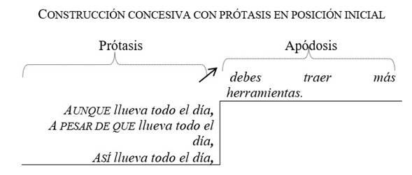 Uso de la coma en las construcciones concesivas con la prótasis al inicio